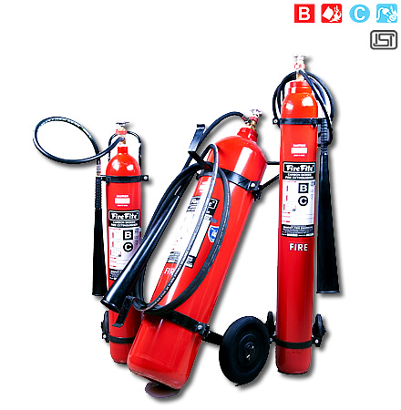 Trolley Mounted CO2 Type Fire Extinguishers